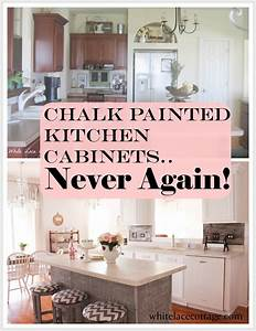 Chalk Painted Kitchen Cabinets Never Again! - White Lace