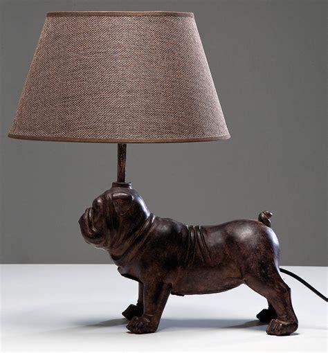 decorative pug table lamp   love retro