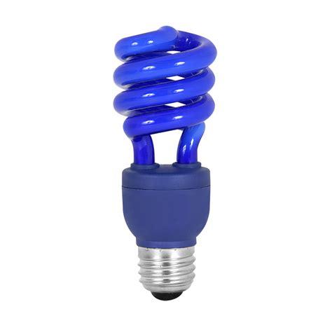 shop mood lites blue t3 cfl decorative light bulb at lowes