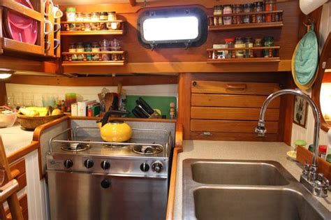 boat galley kitchen designs foodista cooking afloat 4853