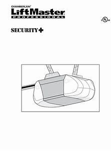 Chamberlain Garage Door Opener 3280 2 Hp User Guide