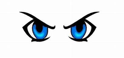 Eyes Angry Clipart Eye Cartoon Anime Clip