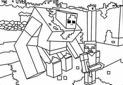 Minecraft Coloring Template Pages Templates Colouring Pdf