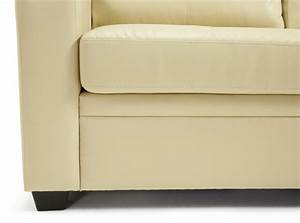 serene turin cream faux leather sofa bed by serene furnishings With cream leather sofa bed