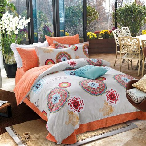 100% Cotton Bohemian Bedding Sets 4pcs Queen Discount