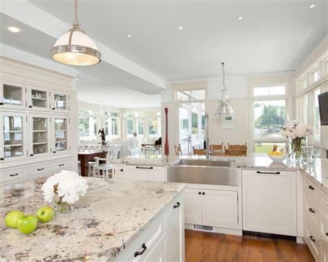 granite countertops with white kitchen cabinets make your kitchen with alaska white granite 8339