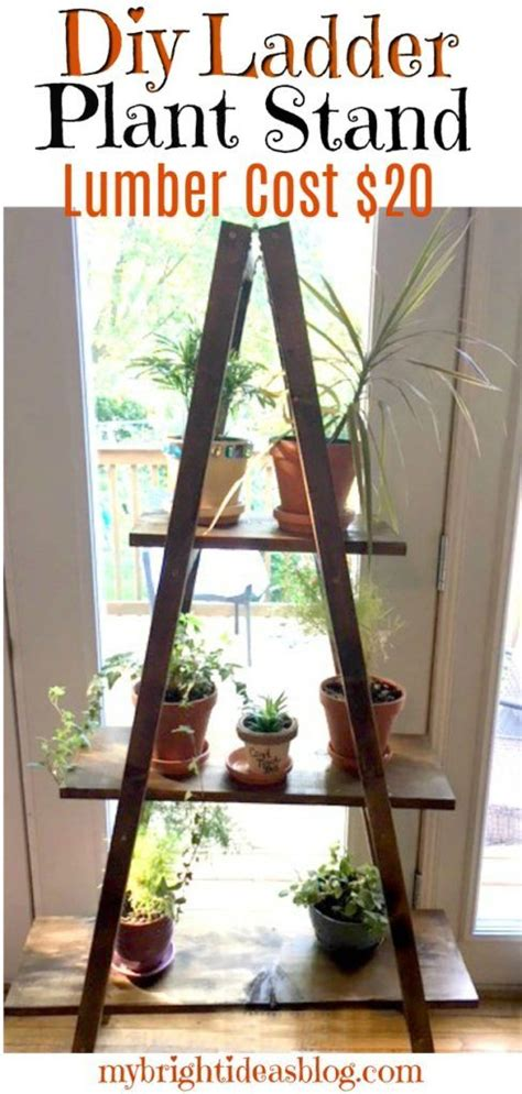 ladder plant stand easy diy    lumber