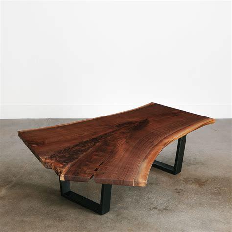walnut coffee table elko hardwoods modern  edge