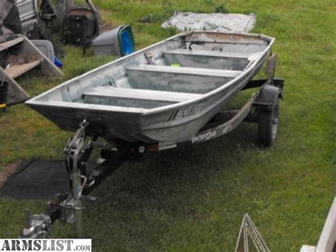 Used Flat Bottom Boats For Sale In Arkansas by Armslist For Sale 14 Aluminum Flat Bottom And Trailer