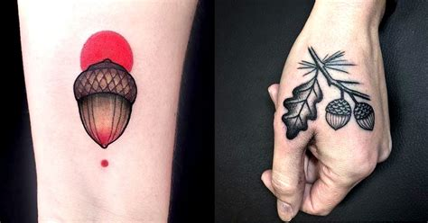 splendid acorn tattoos tattoodo