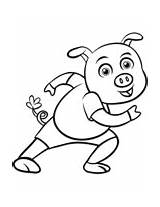 Pig Coloring Cartoon Pages sketch template