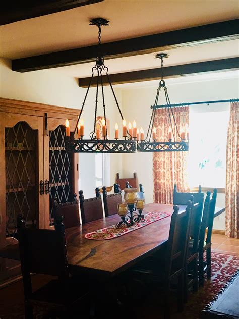 Custom wrought iron pendant chandeliers are perfect in the