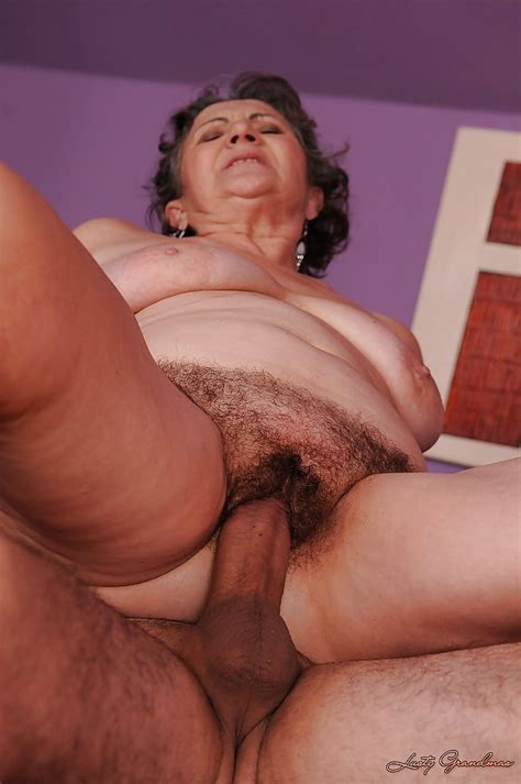 slutty granny gets her hairy cunt slammed hard and takes a facial cumshot