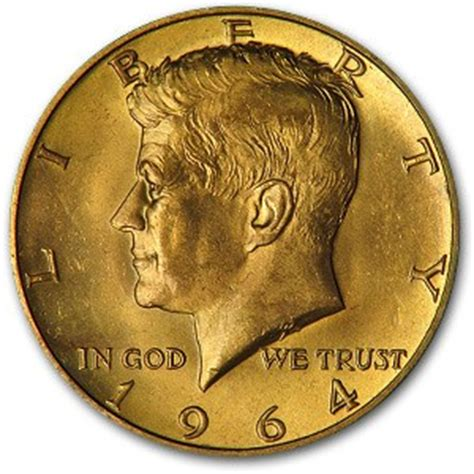 kennedy half dollar 1964 1964 kennedy half dollar gold plated kennedy half dollars 1964 date apmex