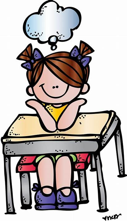 Clipart Melonheadz Teacher Student Thinking Library Cliparts