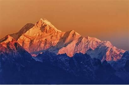 Highest Mountains Sikkim Sunrise Mount Mountain Kanchenjunga