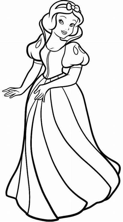 Snow Coloring Printable Princess Disney Schneewittchen Drawing
