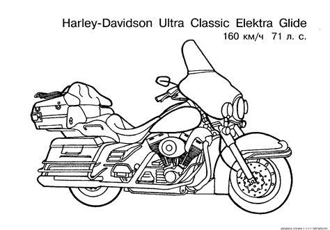 harley davidson coloring pages    print