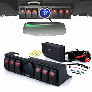 Xprite 6 Rocker Switches Panel Control System Assemblies W   Wiring Harness  U0026 Voltage Display For