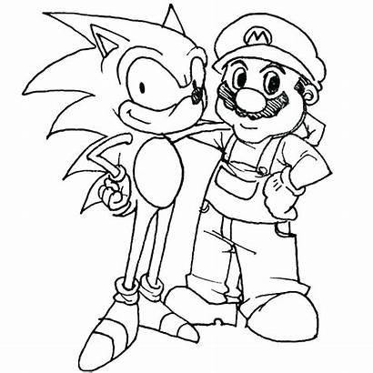 Mario Coloring Pages Super Bros Maker Printable