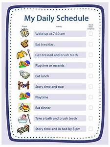 Daily Behavior Chart Template Free Creating Structure Activities Essentials Parenting