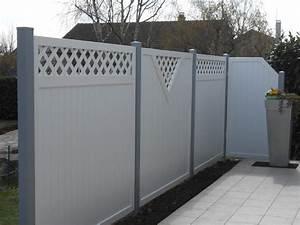 Panneau Pvc Blanc : panneau brise vue pvc blanc galerie et vue avec panneau ~ Dallasstarsshop.com Idées de Décoration