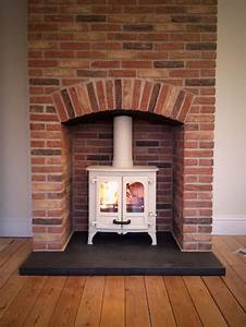 Brick, Fireplace, Surround, Woodburner