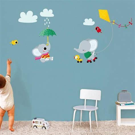 d oration chambre fille 8 ans stickers muraux decoration chambre bebe elephant cerf