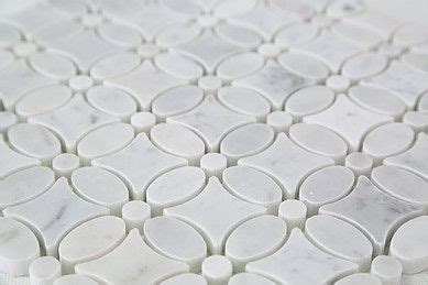 white thassos carrara marble floral design floor wall