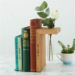 Personalised, Oak, Vase, Bookend