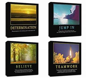 4pcs x motivational quotes motto inspirational success With best brand of paint for kitchen cabinets with inspirational quotes canvas wall art