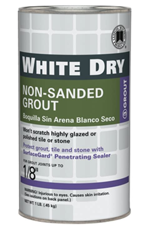 white non sanded grout custom building products