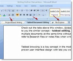 Tabbed editing edit multiple documents at the same time for Word documents editor