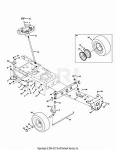 Troy Bilt 13av78ks066 Tb42  2014  Parts Diagram For Front
