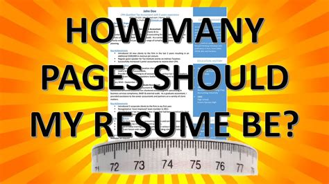 resume writing how many pages should my resume be