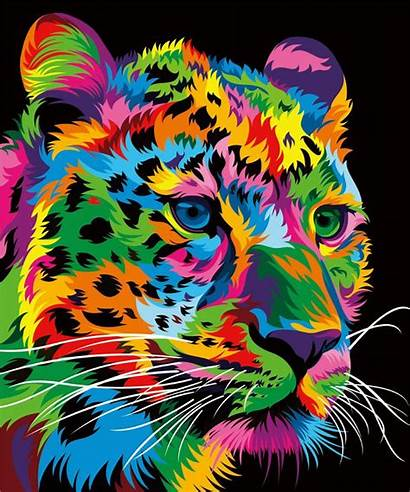 Animal Colorful Animals Pop Multi Colored Paintings