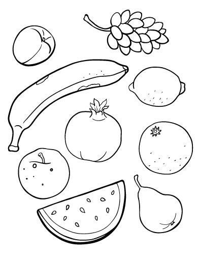 printable fruit coloring page     http