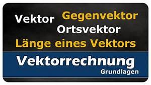 Länge Eines Vektors Berechnen : let s learn vektor gegenvektor ortsvektor und l nge eines vektors youtube ~ Themetempest.com Abrechnung