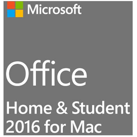 microsoft office home student 2016 for mac kit b h photo
