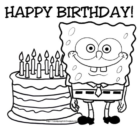 happy birthday coloring pages clipart panda