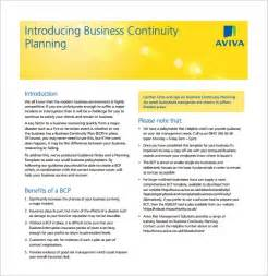 continuity resume exle simple business continuity plan