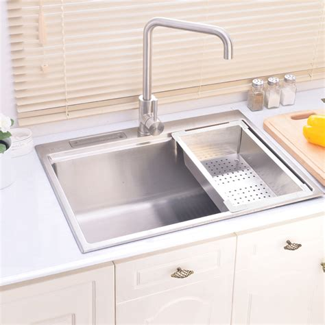 simple kitchen sink modern simple 304 stainless steel sink rectangle single 2239