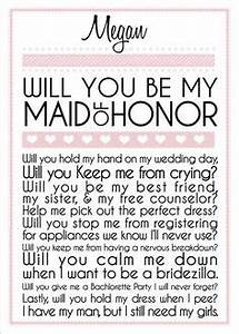 will you be my bridesmaid matron maid of honor wedding With will you be my maid of honor letter