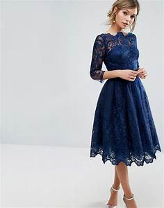 chi chi london chi chi london premium lace midi dress With midi length dresses for wedding guest