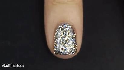 Glitter Polish Nail Nails Glamour Putting Trick