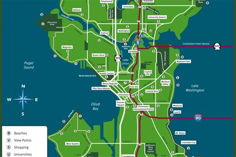 seattle visitors bureau maps logistics visit seattle