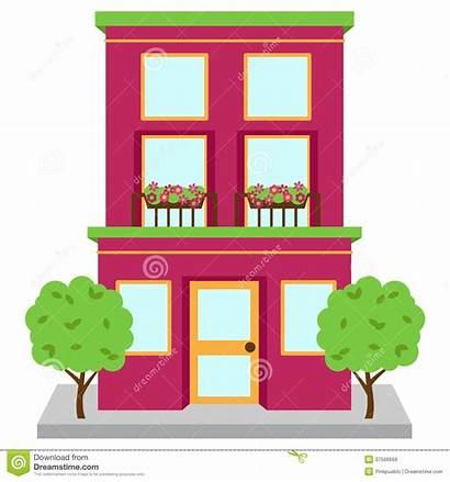 Apartment Clipart Building Clip Apt Straat Costruzione