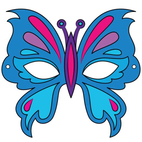 butterfly mask template  printable papercraft templates