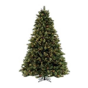 shop sylvania 7 5 pine artificial christmas tree with clear lights at lowes com