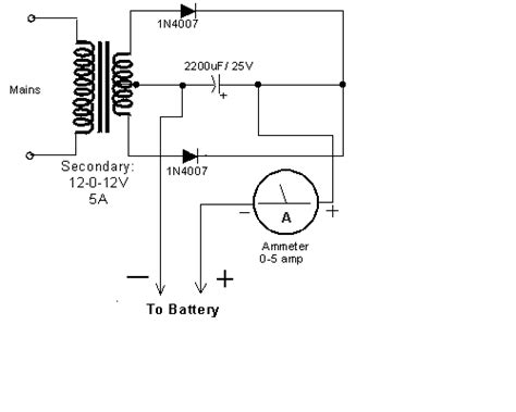 Simple Car Battery Charger Electronics Circuits Hobby